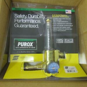 Esab 0558005172 Purox R 33 fm 580 Regulator Flowmeter 1 2