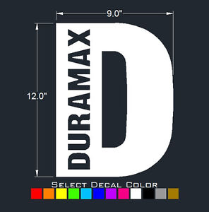 Duramax Decals Window Tailgate Diesel Sticker 9 X 12 Select Color
