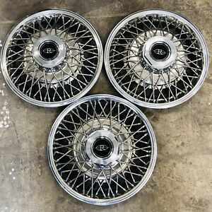 3 Used 1980 1985 Oem Buick Riviera 15 Wire Wheel Covers