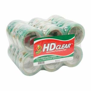 Duck Hd Clear Heavy Duty Packaging Tape 1 88 Inches X 54 6 Yards Clear 24 Pack