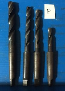 Qty 4 Morse Taper 2 Mt Drill Bit Metal Lathe Southbend Atlas Craftsman Drill P