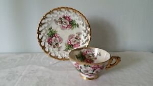Vintage Royal Sealy China Tea Cup Saucer Japan