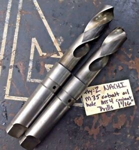 2 Nachi 1 3 16 M35 Drill Bit Oil Hole Mt Taper 4 Shank Coolant peddinghaus Cab