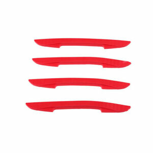 2 Pair Car Door Protector Strip Door Edge Scratch Crash Protection Sticker Red