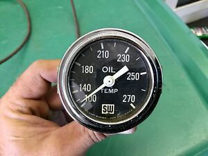 Stewart Warner Big Block Logo Working Oil Temperature Gauge Nice Scta Trog