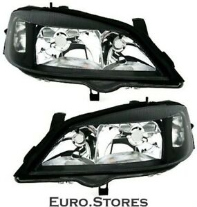 Depo Spotlight Set For Opel Astra G 98 05 In Black Clear Glass