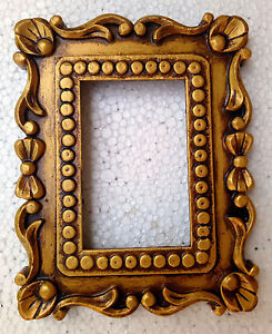 Wooden Photo Frame Old Hand Made Carved Picture Photo Frame Collectible Art