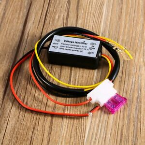Drl Car Led Daytime Running Light Controler Relay Harness On Off Auto Dimmer Kit