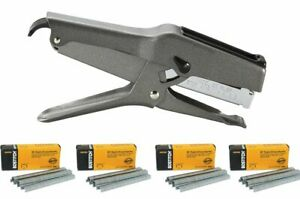 Stanley Bostitch B8 Heavy Duty Plier Stapler gray With 4 Boxes Of 1 4 Staples