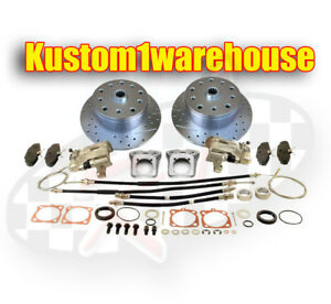 Rear Disc Brake Conversion Kit For 68 72 Vw 5 Lug Porsche W emergency Parking