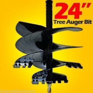 Tree Auger Bit For Skid Steer Loaders 24 Fits All 2 5 Round Auger Drives usa