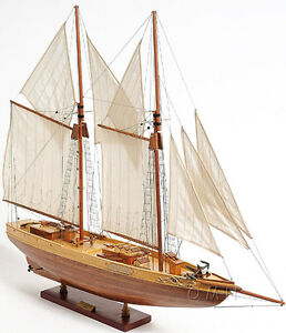 Schooner Bluenose Ii Wood Ship Model 38 Sailboat Fully Assembled Fishing Boat