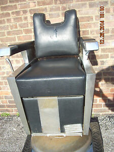 Theo Koch Barber Chair Great For Parts And Restoration Project Used But Nice