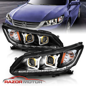 U Style Neon Tube For 2013 2014 2015 Honda Accord Sedan Projector Headlights