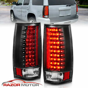 2007 2014 Chevy Suburban Tahoe Gmc Yukon Xl Denali Black Led Brake Tail Lights
