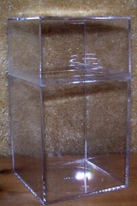 12 Clear Plastic Acrylic Storage Boxes 7 5 X 4 For Display Beanies Sports