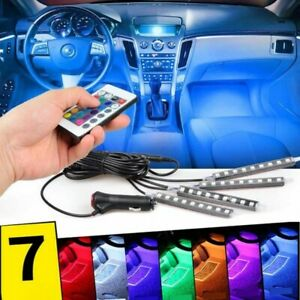 Full Color Interior Car Led Glow Kit Under Dash Foot Well Inside Color Changing
