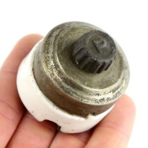 Vintage Round Porcelain Paulding Toggle Switch On off 3a 250v 6a 125v Lamp