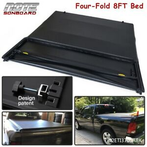 4 Fold Soft Tonneau Cover For 2002 2018 Dodge Ram 1500 2500 3500 8ft Long Bed
