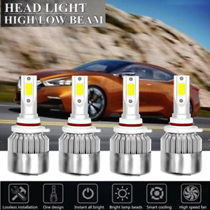 4x Headlight High Low Beams Kit Hid White Led For Jeep Grand Cherokee 1999 2010