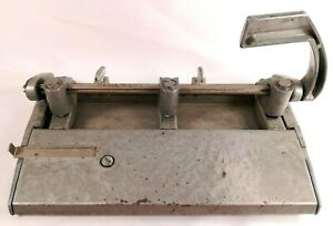 Vintage Foothill 310 Heavy Duty Industrial 3 hole Lever Hole Punch Usa Made