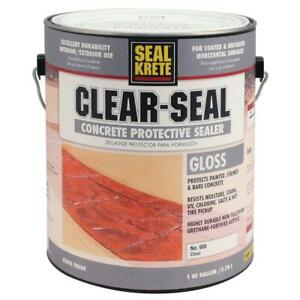 Clear Seal Concrete Protective Sealer Uv Moisture Stain Resistant Gloss 1 Gal