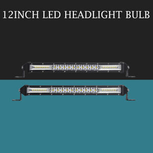 2x 12 Inch 416w Led Light Bar Flood Spot Beam Offroad Work Lights 4wd Truck Atv