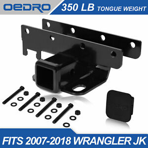 Taoautoparts Fit For 07 18 Jeep Wrangler Jk 2 Towing Trailer Hitch Receiver