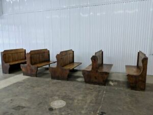 Vintage Lot Of Rustic Knotty Pine Restaurant Booths Barbeque Steakhouse