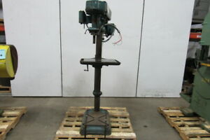 Walker Turner 20 Vintage Pedestal Drill Press Mill drill 208 460v 1hp