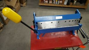 Erie Tools Heavy Duty 24 Sheet Metal Pan And Box Brake With Adjustable Fingers