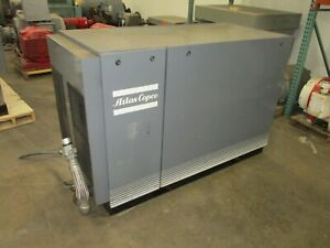 Atlas Copco Oil Injected Rotary Screw Compressor Ga 37 50hp 229cfm 132psi Max