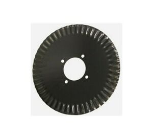17 X 4 5mm Ripple Edge Coulter Blade 4 Center Hole With Dual 4 bolt Pattern