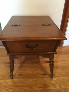 Heywood Wakefield Old Colony Maple Dough Box End Table Cinnamon Local Pickup