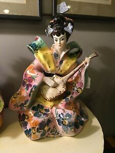 Porcelain Figurine Large Italian Majolica Excellent Condition 2 Of 2 Mid Cent