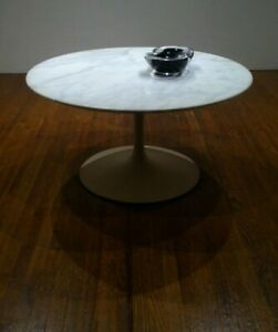 Knoll Saarinen Marble Top Tulip Base Coffee Table Original Vintage