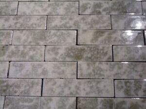 Antique Vintage Victorian Fireplace Tile Tiles Mantle Hearth Sage Olive Grey 65