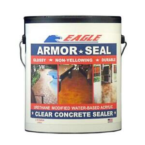 Clear Concrete Sealer Urethane Water based Acrylic Non yellowing Glossy 1 Gal