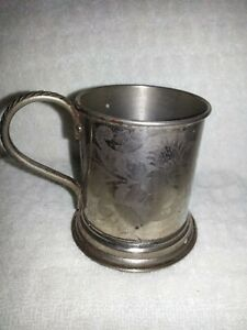 Vintage Silver Plated Cup Or Holder Of Sugar