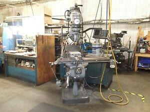 Bridgeport Textron Vertical Series I Milling Machine With 42 Table And Pneu
