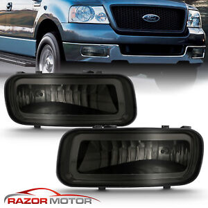2004 2006 For Ford F 150 F150 Smoke Tint Fog Lights Front Driving Lamps Pair