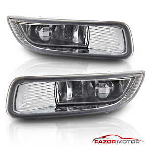 For 2003 2004 Toyota Corolla Euro Clear Bumper Fog Lights W Switch Harness Kit