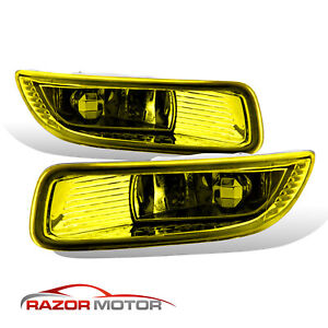 For 2003 2004 Toyota Corolla Yellow Bumper Fog Lights W Switch harness Kit