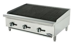 New Atosa Atcb 36 Heavy Duty Stainless Steel 36 Char rock Broiler