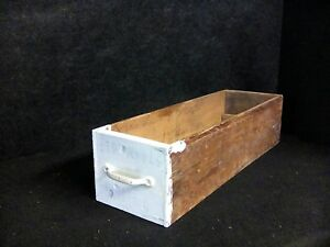 Antique Vintage Drawer Box Wood Primitive Rustic Country Farmhouse Crate Shelf