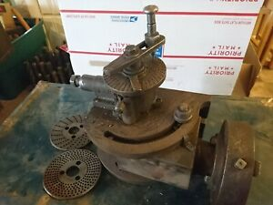 Dividing Indexing Head Milling Machinist Tool Index Gear Extra Plates Good