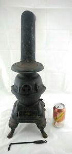Antique Spark Grey Iron Casting Co Small Miniature Pot Belly Stove