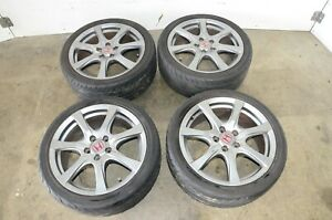 Jdm Honda Civic Type R 5x114 3 18x7 5 Offset 60 4pc Set Imported From Japan Fd2