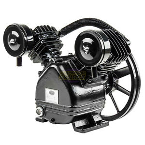 2 3 Hp Replacement Air Compressor Pump Single Stage Two Cylinder 7 Cfm