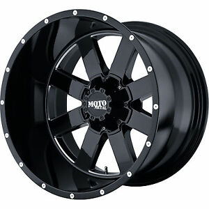 20x12 Moto Metal Mo962 Rims Black Wheels 35 Tires Fit Lifted Chevy Gmc Trucks